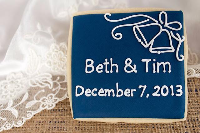 wedding bell cookie