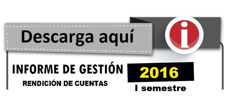 Informe de Gestión Arauca 2016 - I