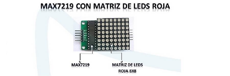 Max7219 MATRIZ DE LEDS ROJA