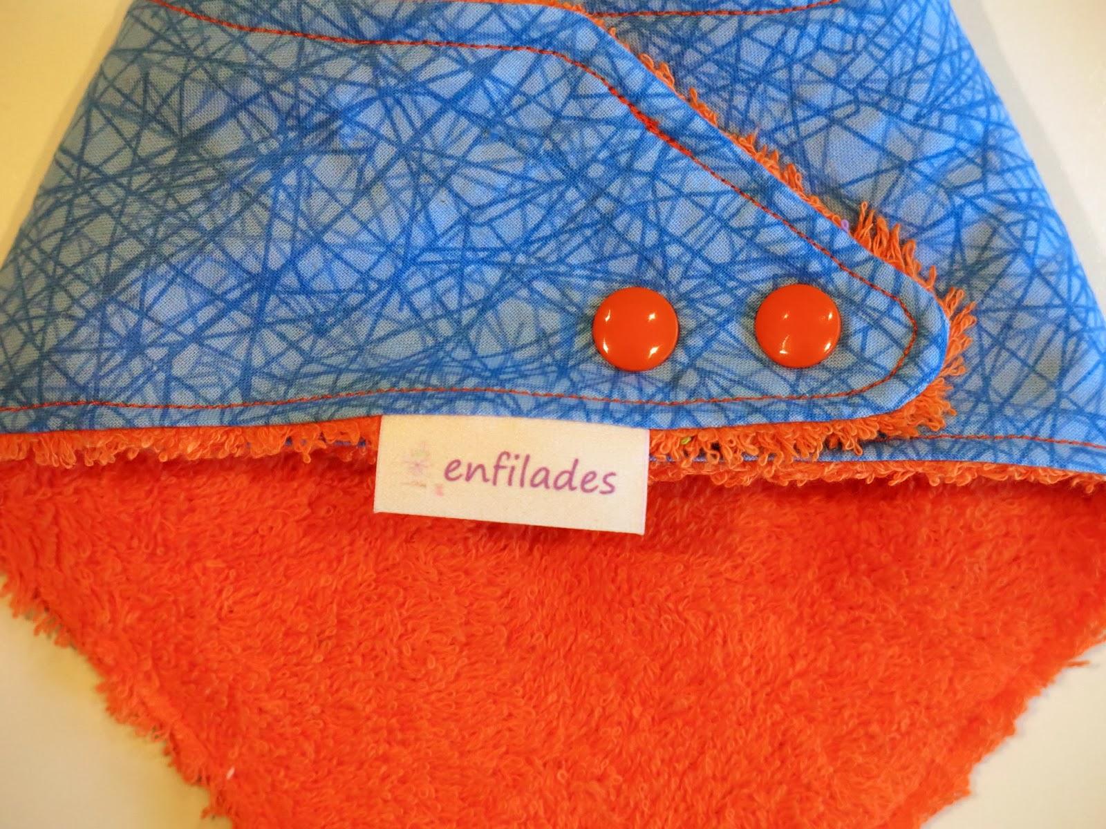 pitet bandana blau ratllat darrere - serie Escola enfilades.cat