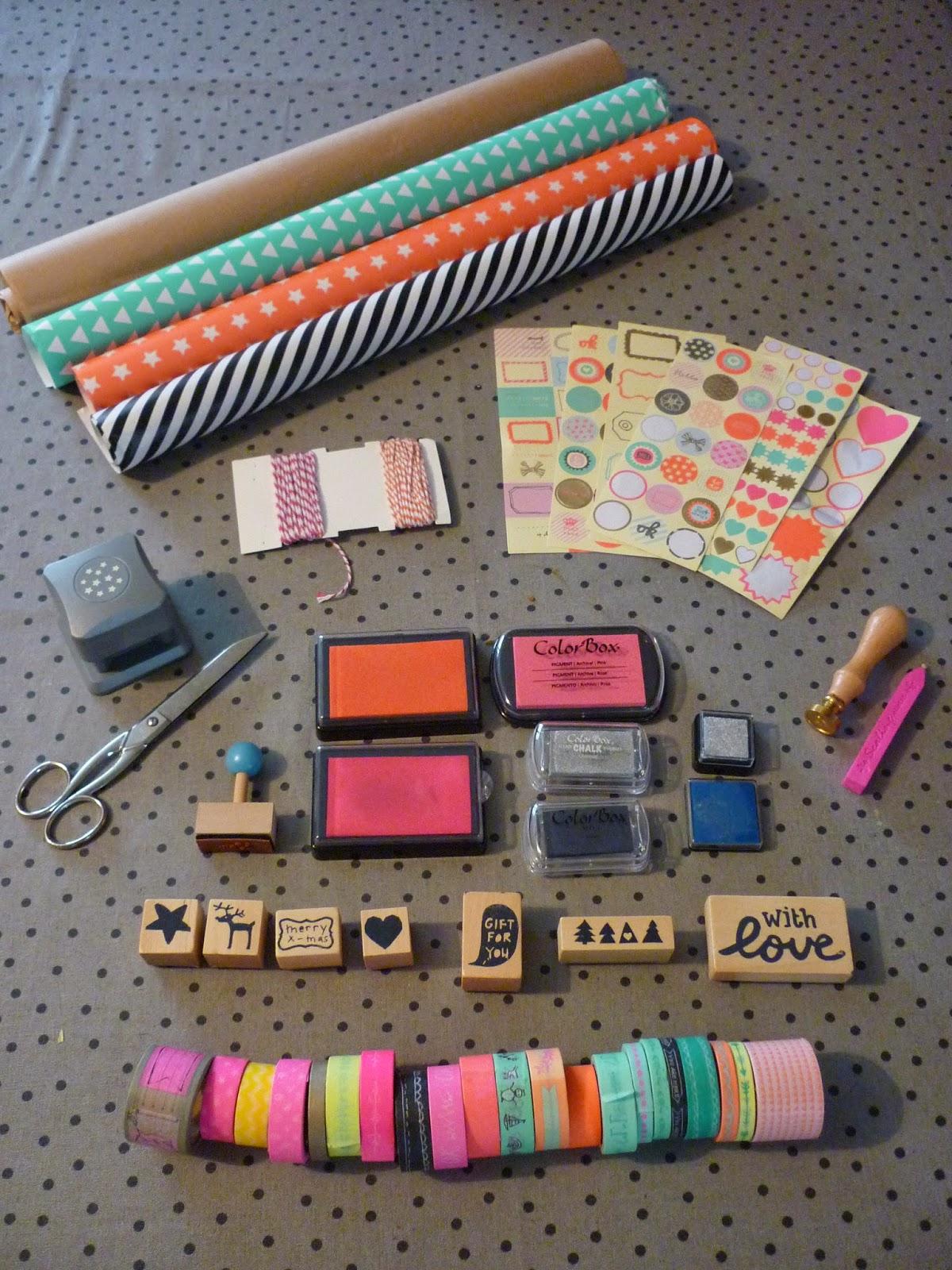 matériel do it yourself paquets cadeaux de noel avec hema et cultura
