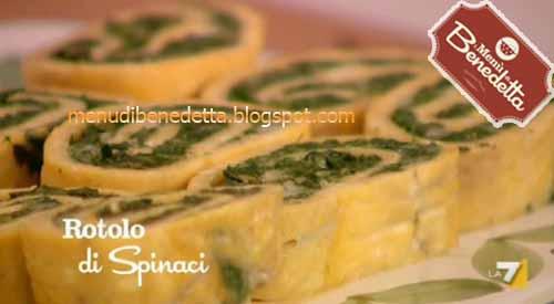 Rotolo di frittata spinaci e mozzarella ricetta da i for Mozzarella in carrozza parodi