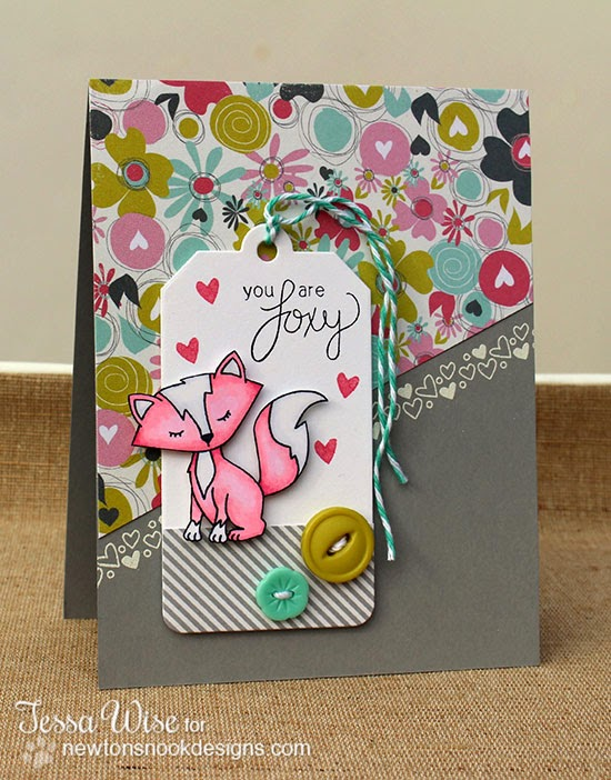 Fox Valentine Card by Tessa Wise for Newton's Nook Designs