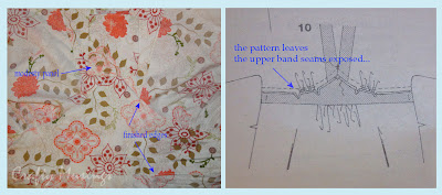 S3697 complete, inside view of bodice finishing