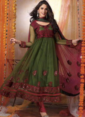 Partywear-Anarkali-Churidar-Suit