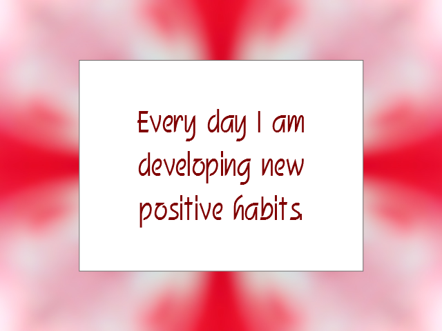 HABITS affirmation
