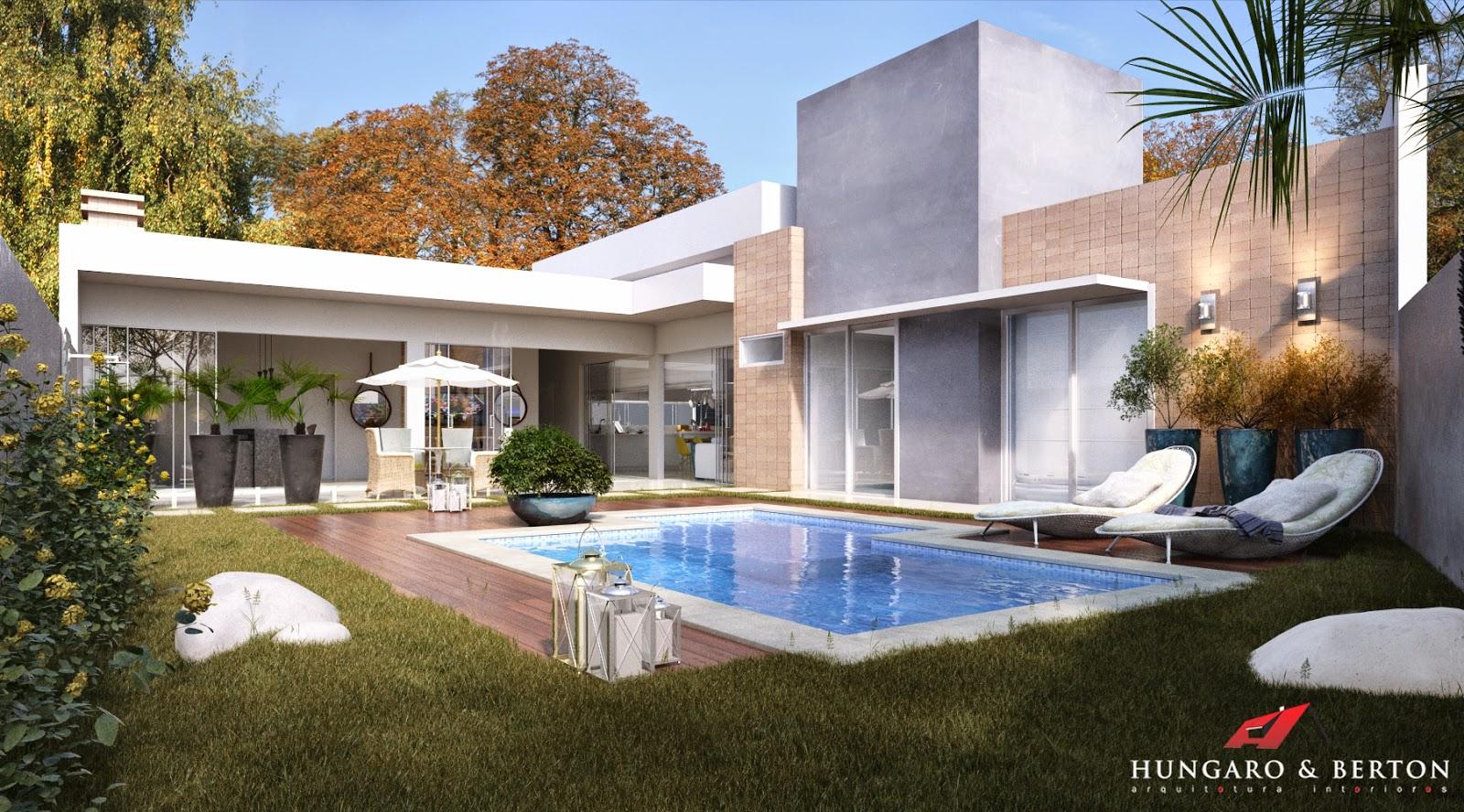 Arquitetura e Interiores: Cozinha Integrada Área de Lazer #1C5BAF 1600 888