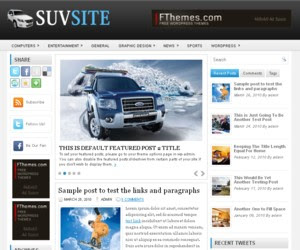 SuvSite WordPress Theme