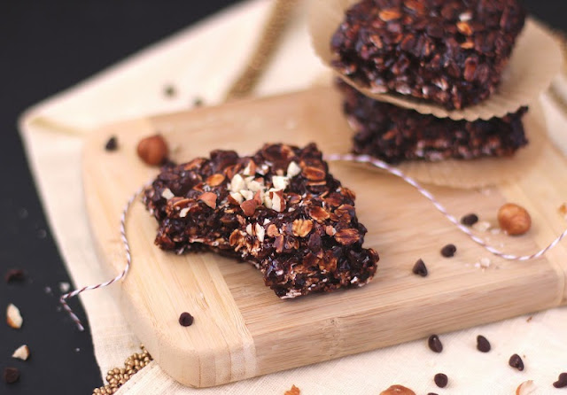 Healthy Fudgy Nutella Granola Bars - Desserts with Benefits