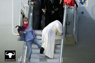 Papa Francesco, viaggio negli usa, satira