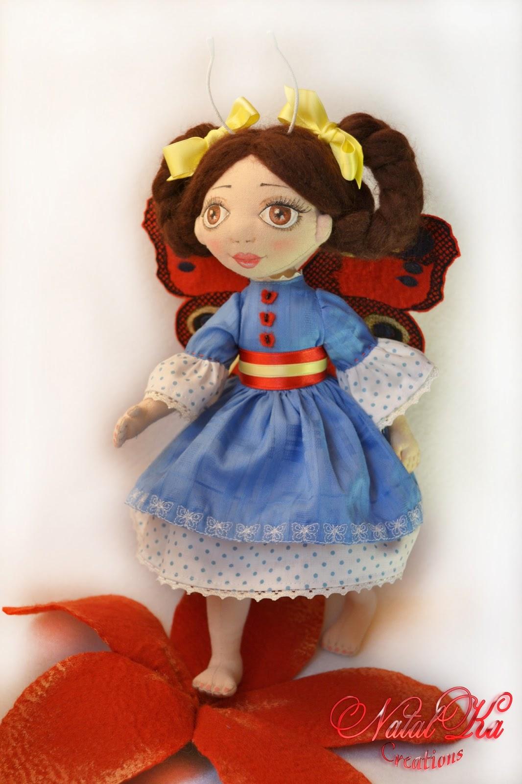 Авторская текстильная кукла от NatalKa Creations. Handgemachte Stoffpuppe von NatalKa Creations. Cloth art doll handmade by NatalKa Creations