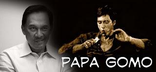 Anwar saman blogger Papa Gomo