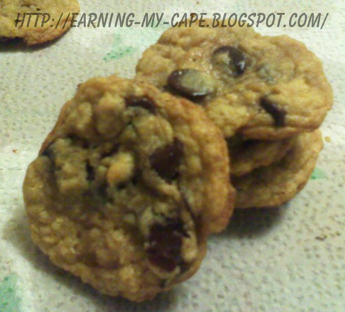 Earning-My-Cape: Our Favorite Chocolate Chip Cookies