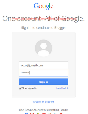 Login to you Blogger account.