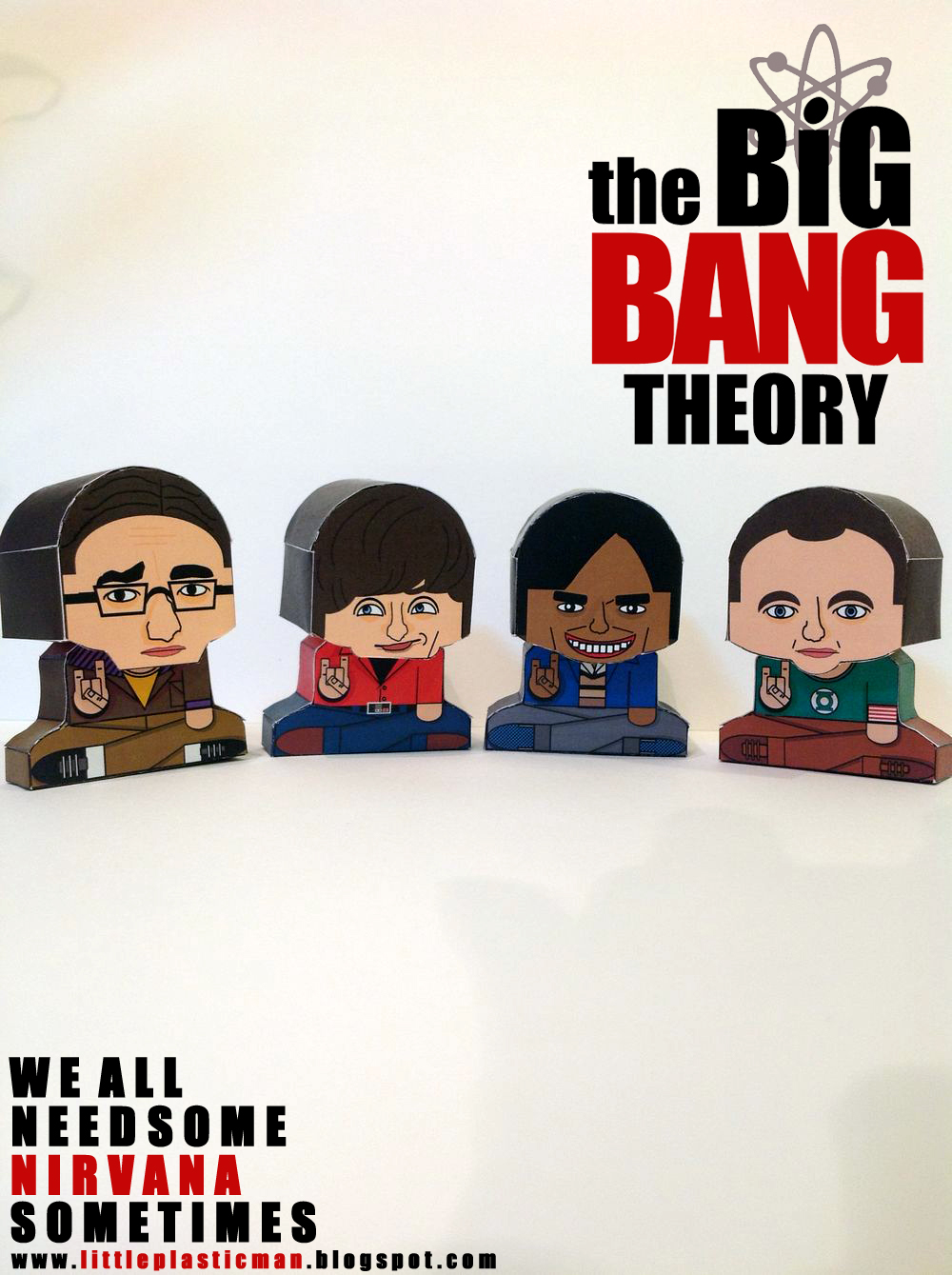 Big Bang Theory Paper Toys