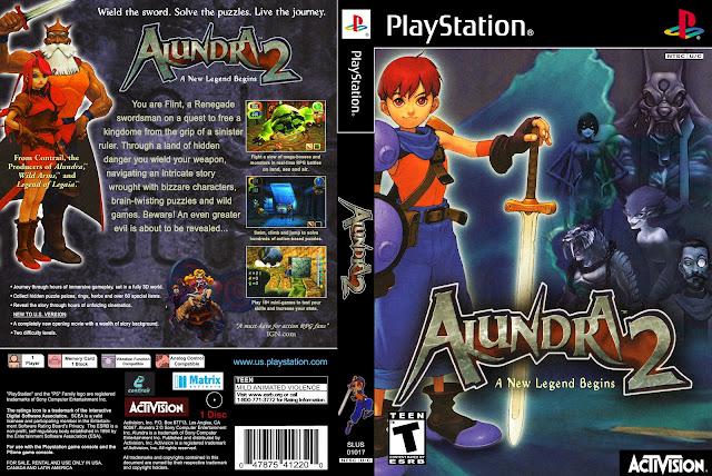 Capa Alundra 2 PS1