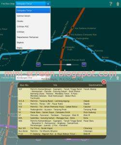 Jakarta Busway Map App for BlackBerry PlayBook