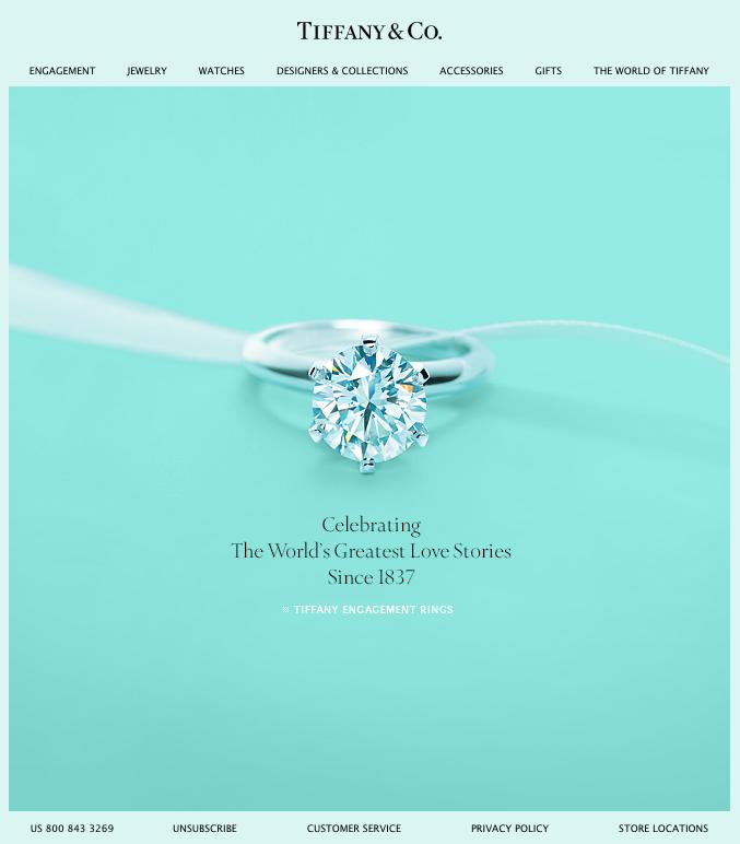 Plantilla simple y efectiva de Tiffany & Co
