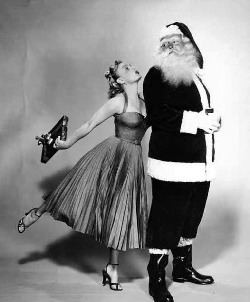 June Haver with Santa