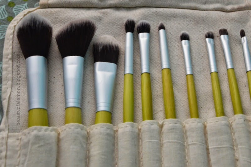 Cosmetics Pcs Eco Brush Set Beauty Lemon