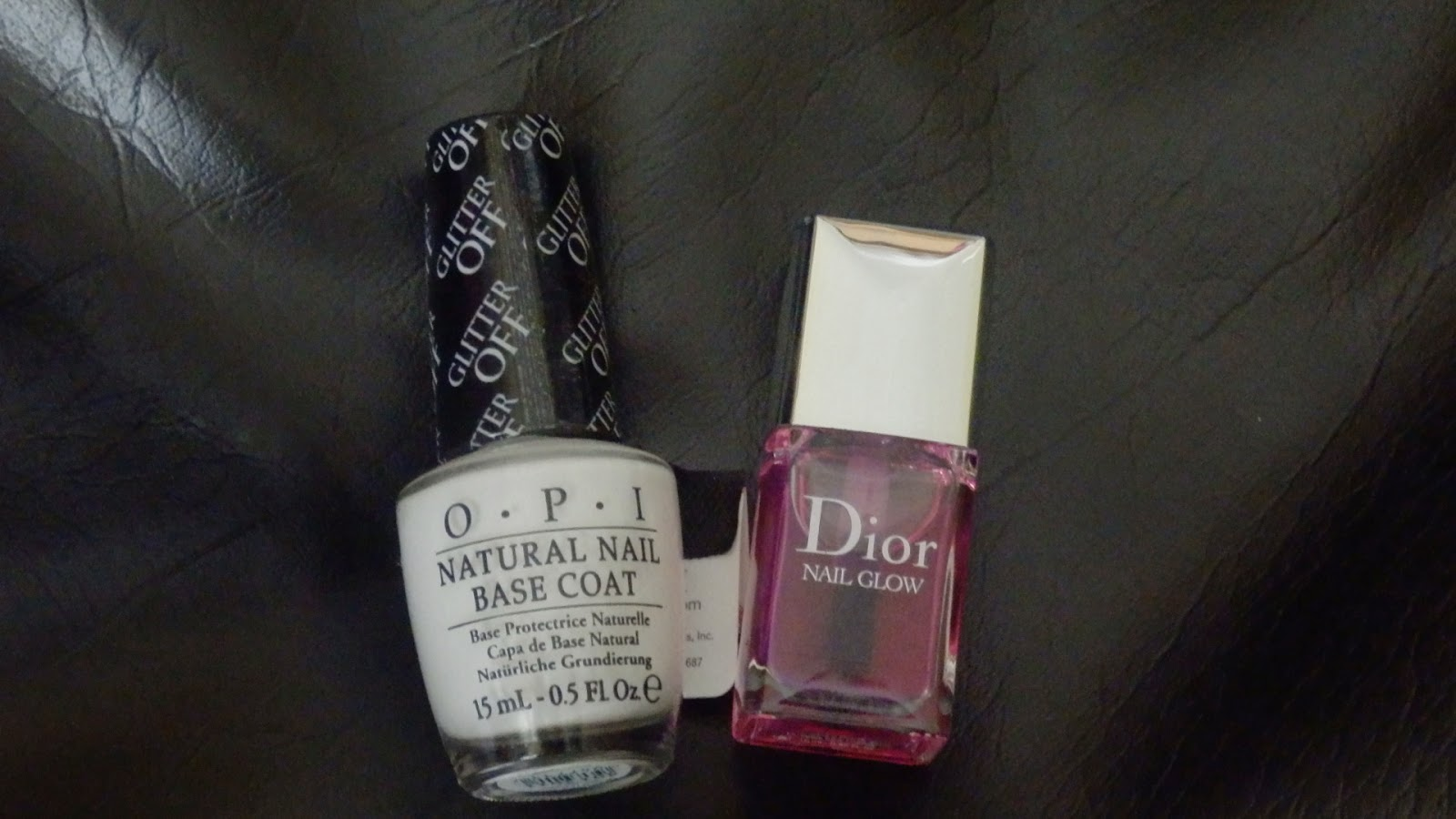 OPI Glitter Off Peelable Base Coat & Dior Nail Glow