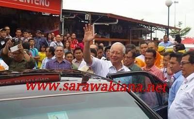 Gambar Walkabout Di Kubah Ria Akhiri Lawatan Najib Ke Sarawak