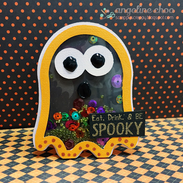 ScrappyScrappy: Boo! Be Spooky! #scrappyscrappy #thecuttingcafe #svg #shakercard #cutfile #diecut #halloween