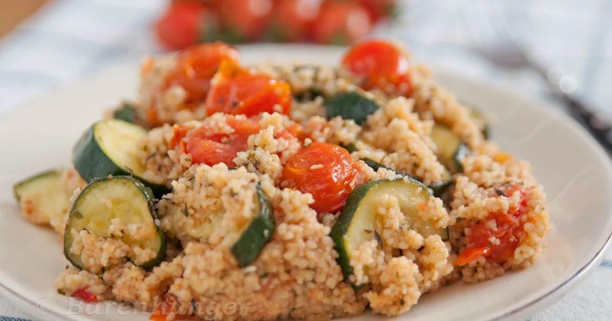 b renhunger couscous salat mit zucchini und tomaten. Black Bedroom Furniture Sets. Home Design Ideas