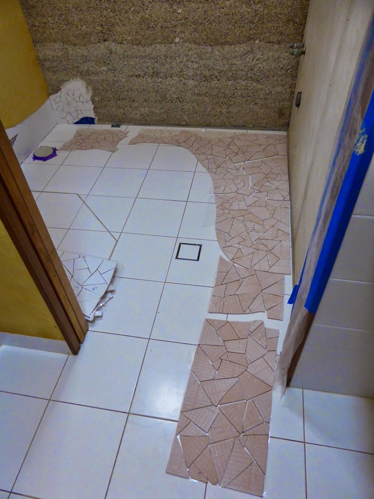 Culburra Hemp House: Tiling on Hemp Walls