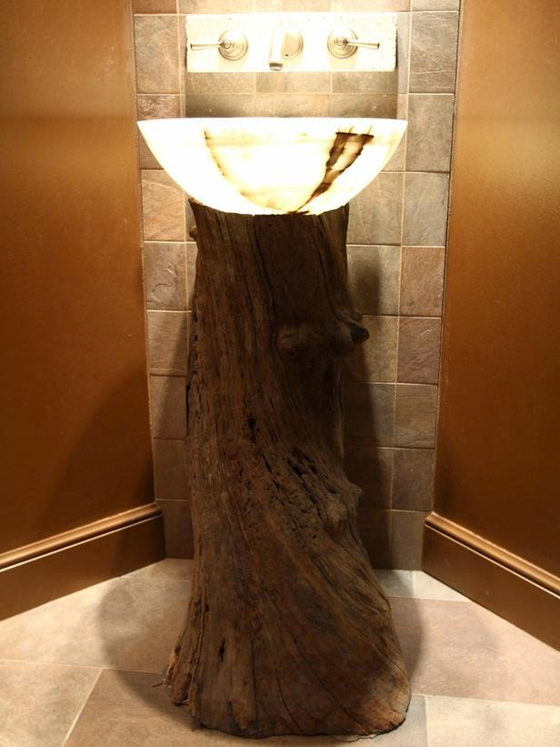 tree stump decor