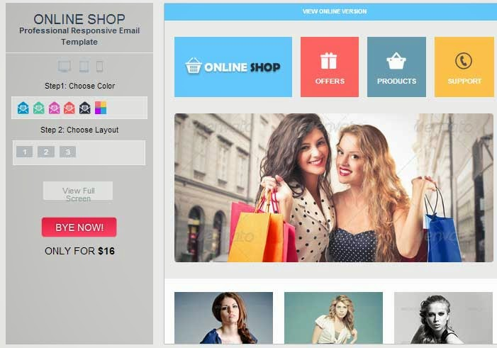 Online Shop – Responsive Ecommerce Email Template