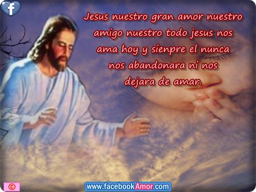 Imagenes cristianas con frases de Dios de amor de fe y  - Imagenes D Jesus Con Frases