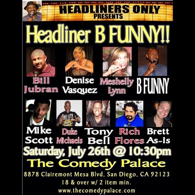 denise vasquez busting out standing up her comedy in san diego the comedy palace saturday july 26th 10 30 pm