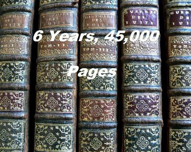 6 Years, 45,000 Pages