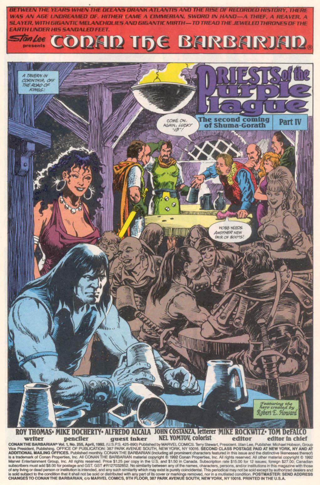 Conan the Barbarian (1970) Issue #255 #267 - English 2