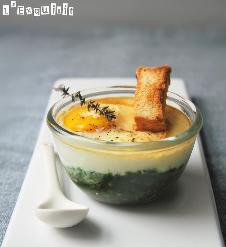 Huevos con pur de espinacas l 39 exquisit - Primeros platos faciles y originales ...