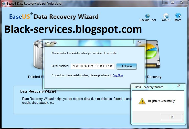 easeus data recovery code mac