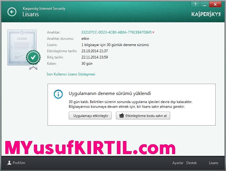 Kaspersky Trial Reset Nedir ? Nasıl Kullanılır ? ( Resimli Anlatım - Video Anlatım )