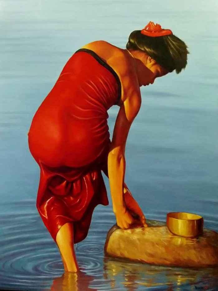 Азиатско-американский художник. Ye Min