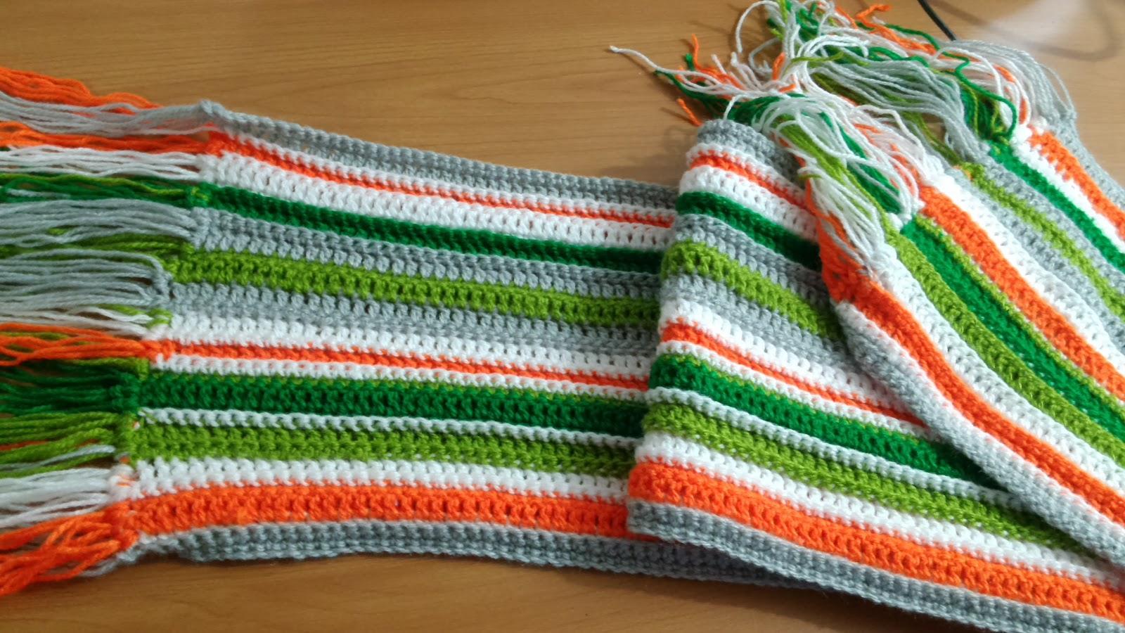 Curso de tejido a mano: Bufanda de varios colores en crochet