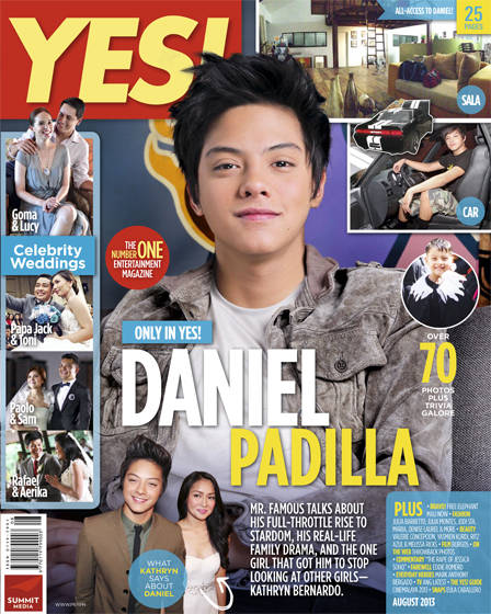 Daniel Padilla Covers YES! Magazine August 2013 issue