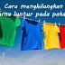 Cecair pencuci untuk hilangkan warna luntur pada pakaian feveret
