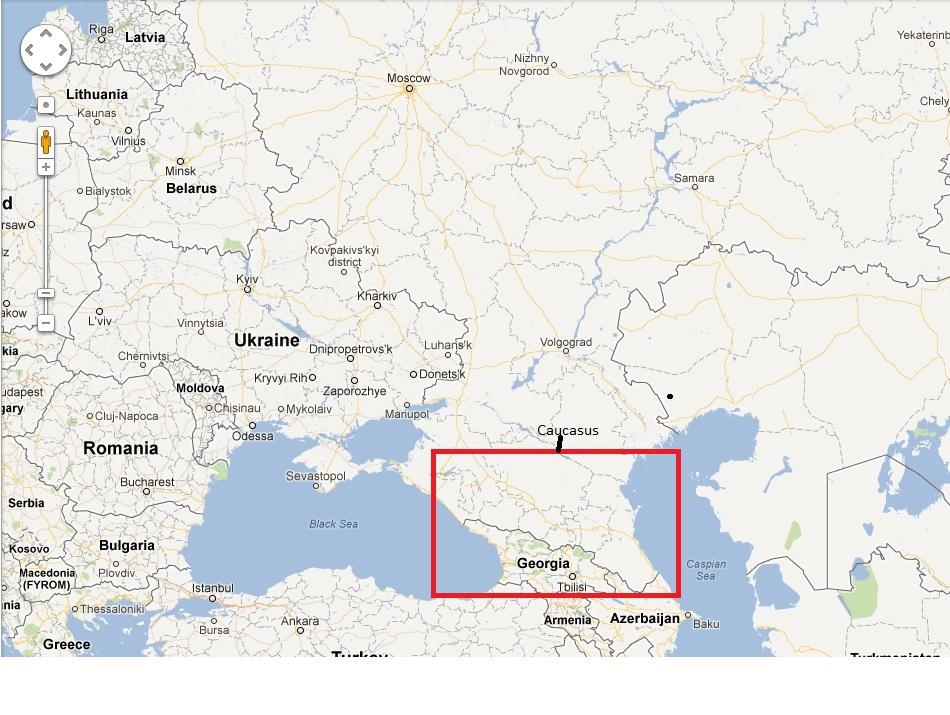 Caucasus Russia - Mt elbrus map
