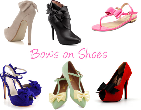 Polyvore Shoes Bows Ribbons