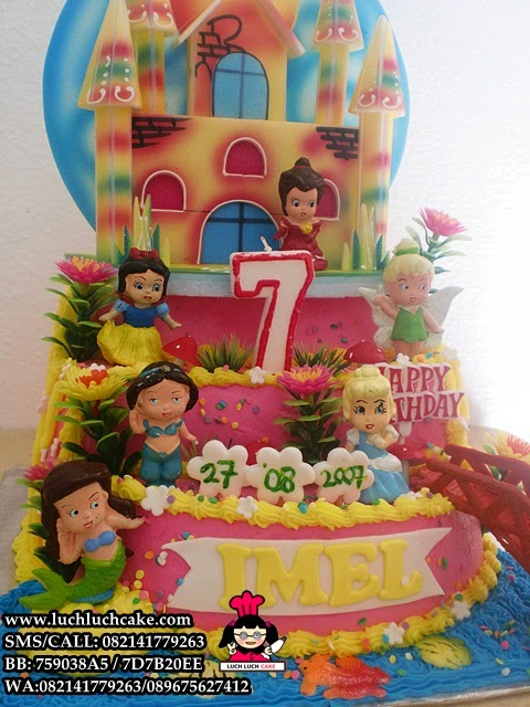 kue tart tema princess disney cantik daerah surabaya - sidoarjo