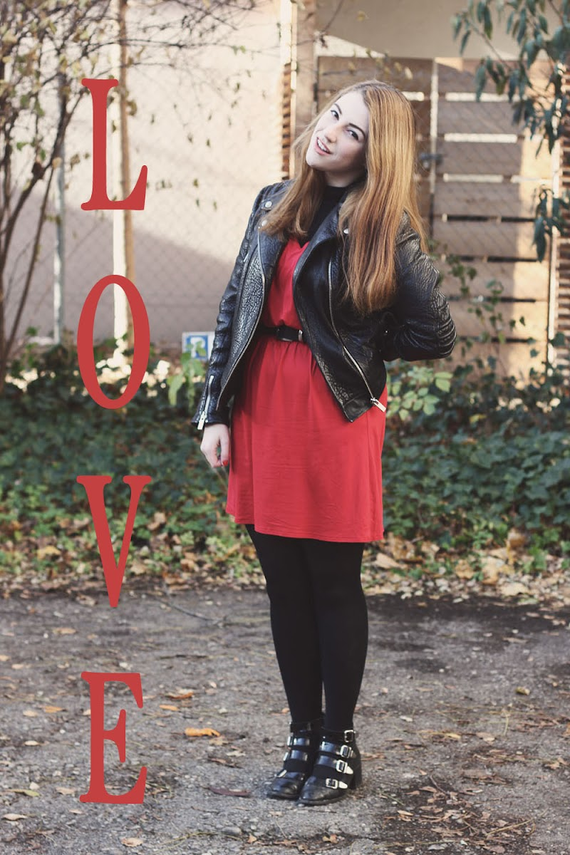 In love with fashion red dress