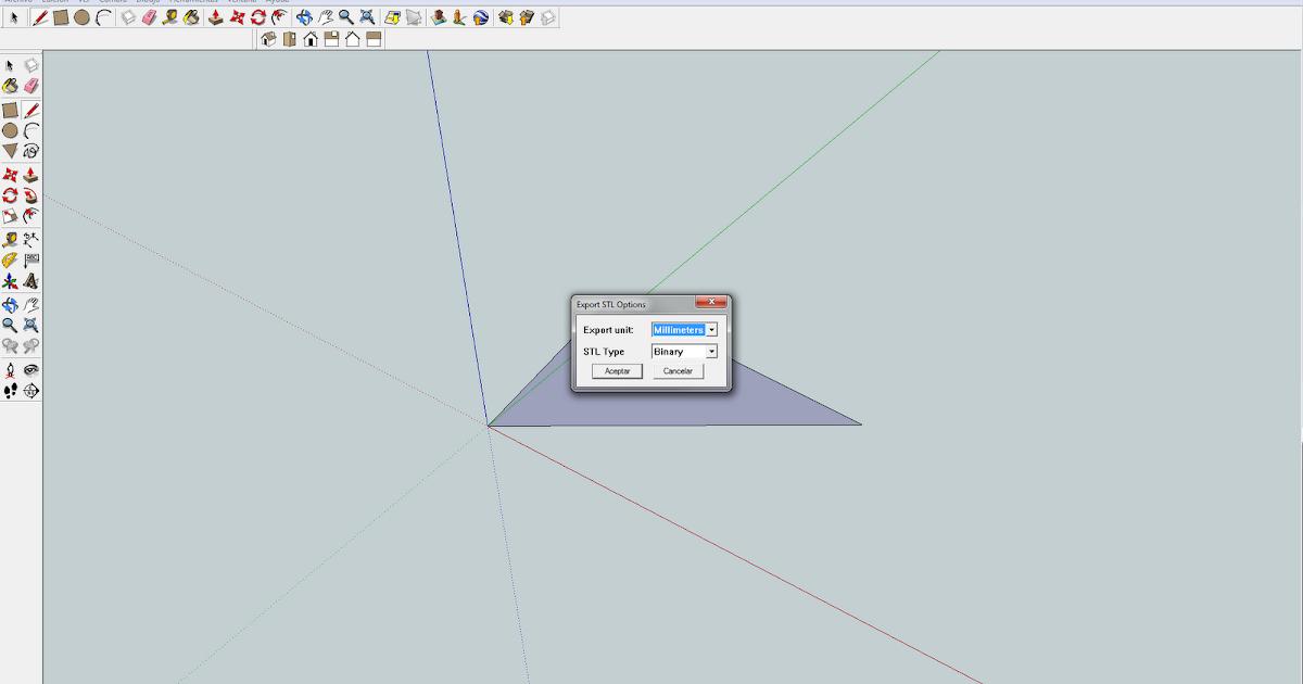 Impresion en 3d exportar ficheros a stl desde sketchup for Stl file sketchup
