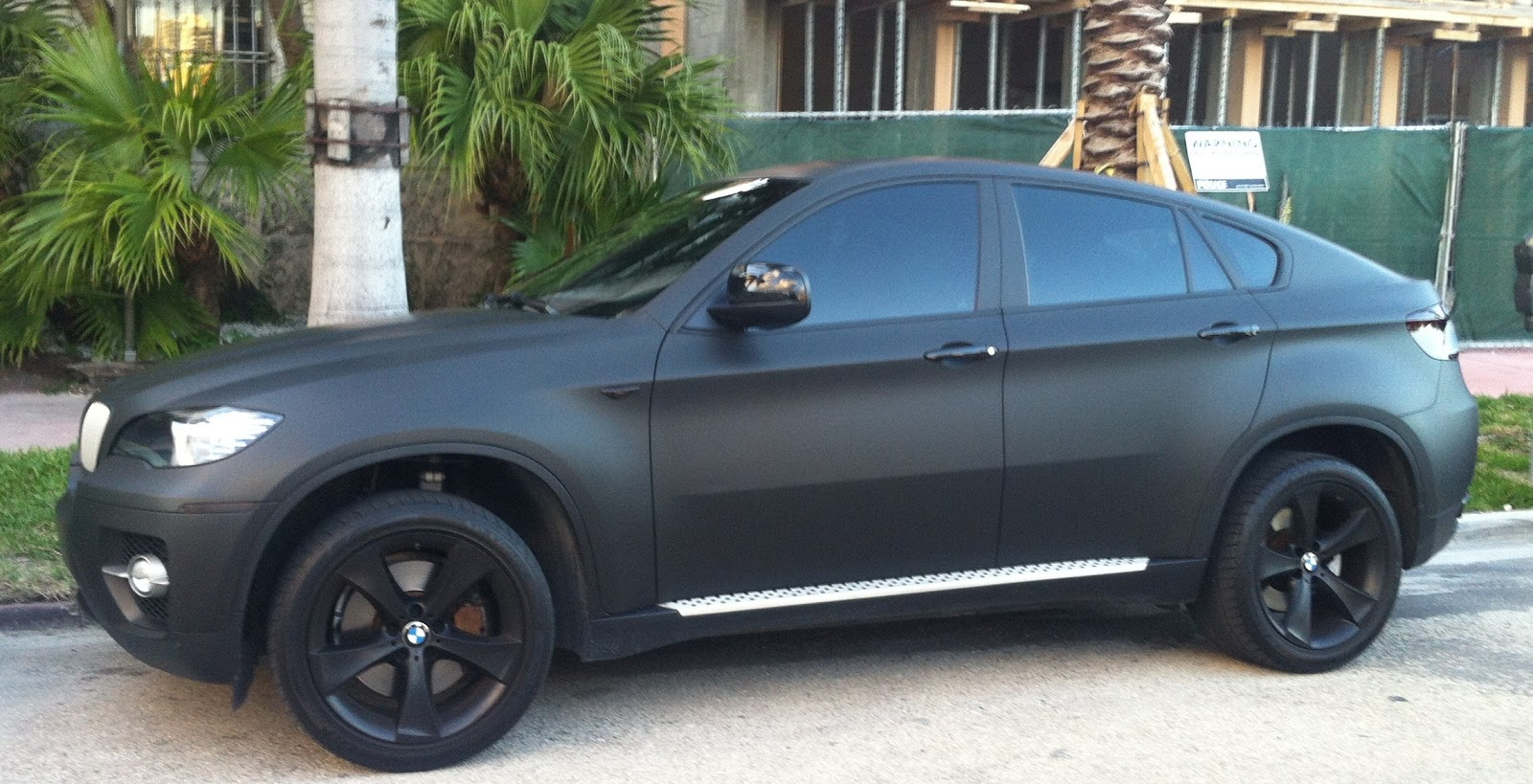 Matte Black Bmw X6 Exotic Cars On The Streets Of Miami