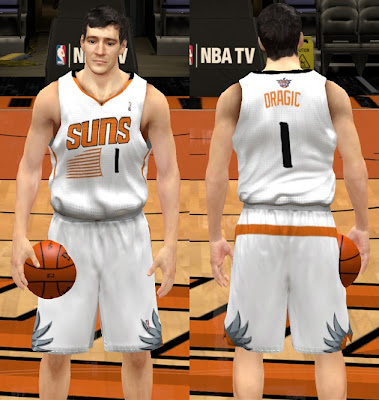 NBA 2K13 New Phoenix Suns 2013-14 Home Uniform Patch