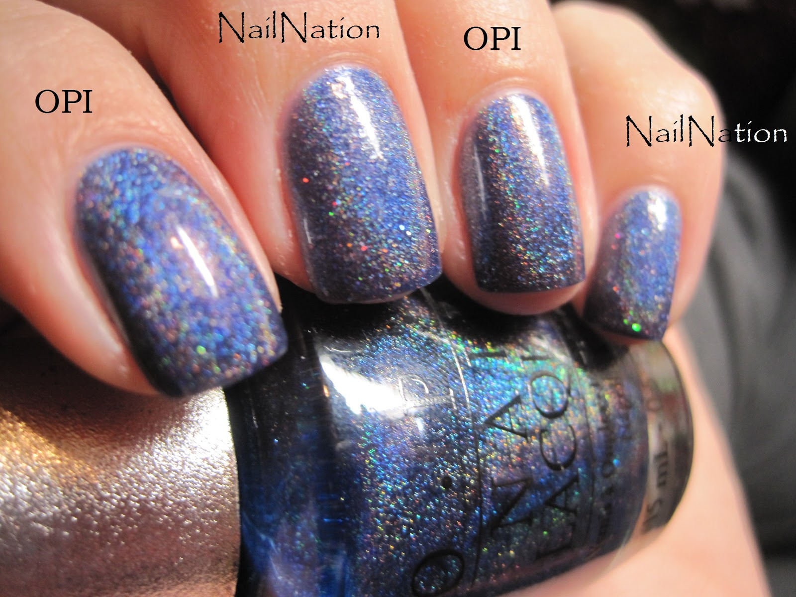 Sparkly Vernis: Nail Nation Eve vs. OPI DS Glamour Comparison
